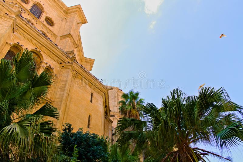 Catedral de la Encarnacion on Malaga royalty free stock photos