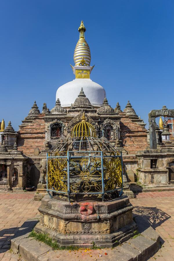 Front of the Chilancho Stupa in Kirtipur. Nepal stock photo