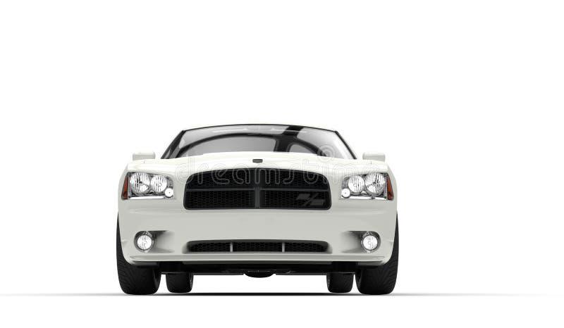 Front Closeup automobilístico branco fotografia de stock