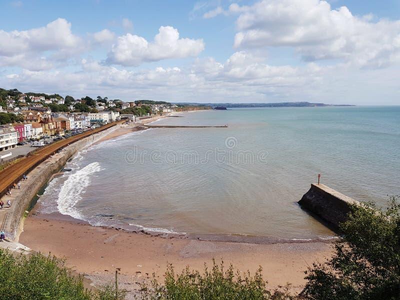 Front de mer à Dawlish, Royaume-Uni images libres de droits