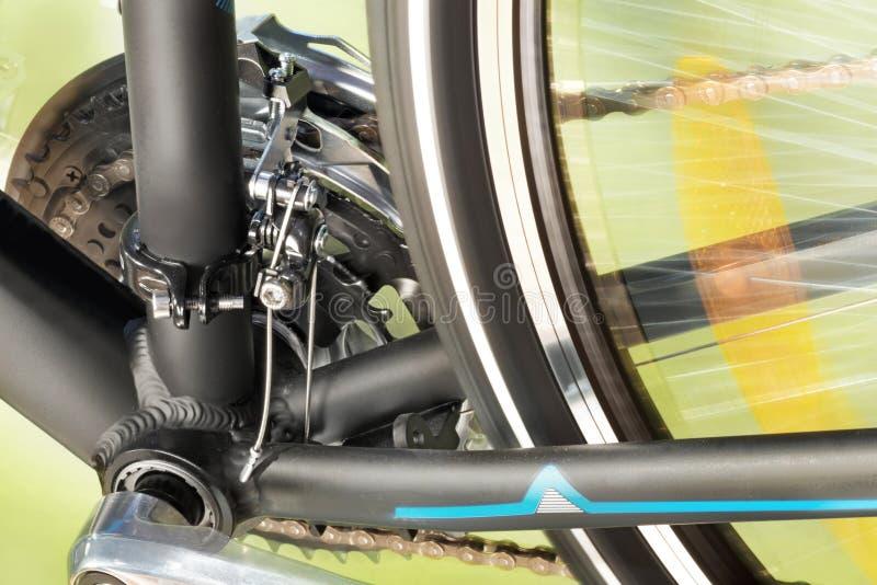 Front Derailleur And Back Wheel royalty-vrije stock fotografie