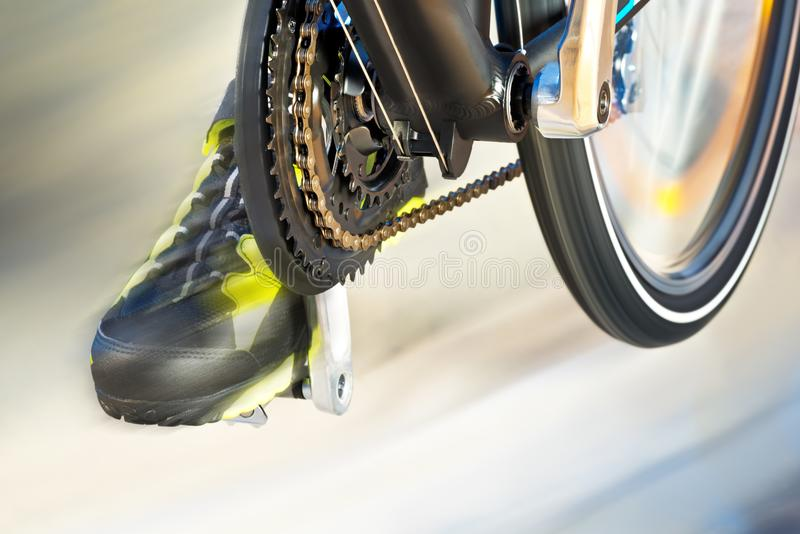 Front Derailleur With Cycle Track royalty-vrije stock afbeeldingen