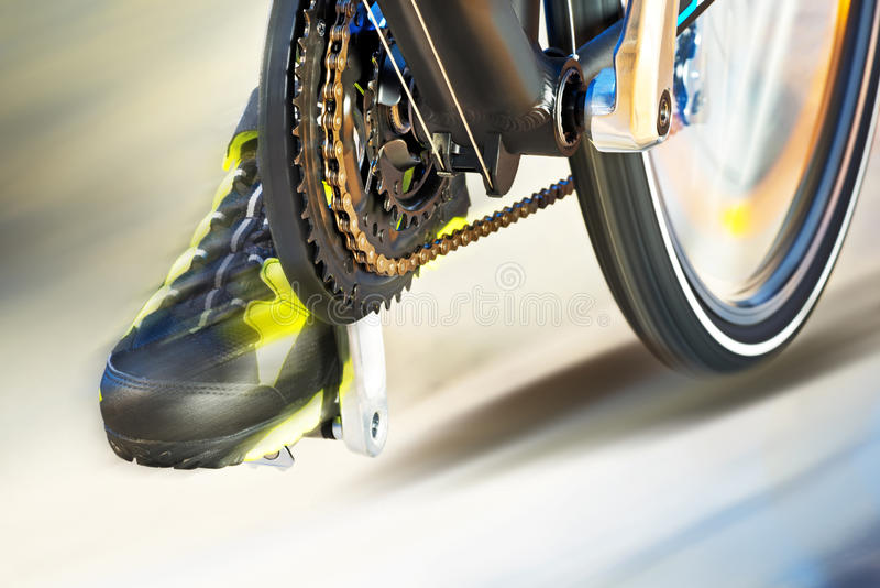 Front Derailleur With Cycle Track royalty-vrije stock foto's