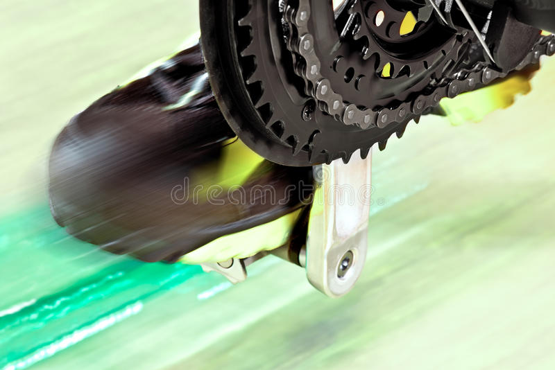 Front Derailleur With Cycle Track royalty-vrije stock foto