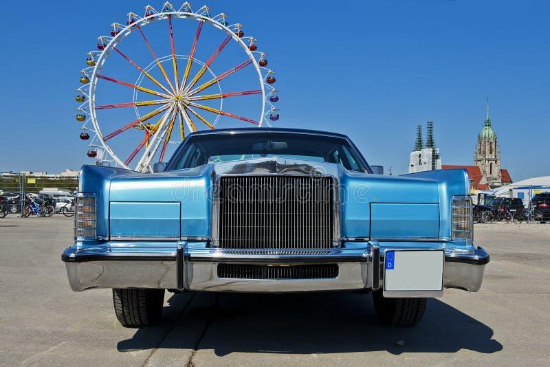 Front des alten Luxusautos, Retro- lizenzfreie stockfotografie