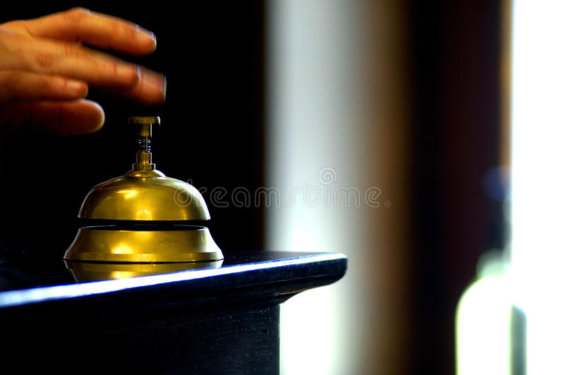 Bell on table royalty free stock photo