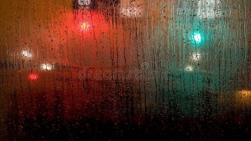 front deszczu szyby autobusów fotografia royalty free