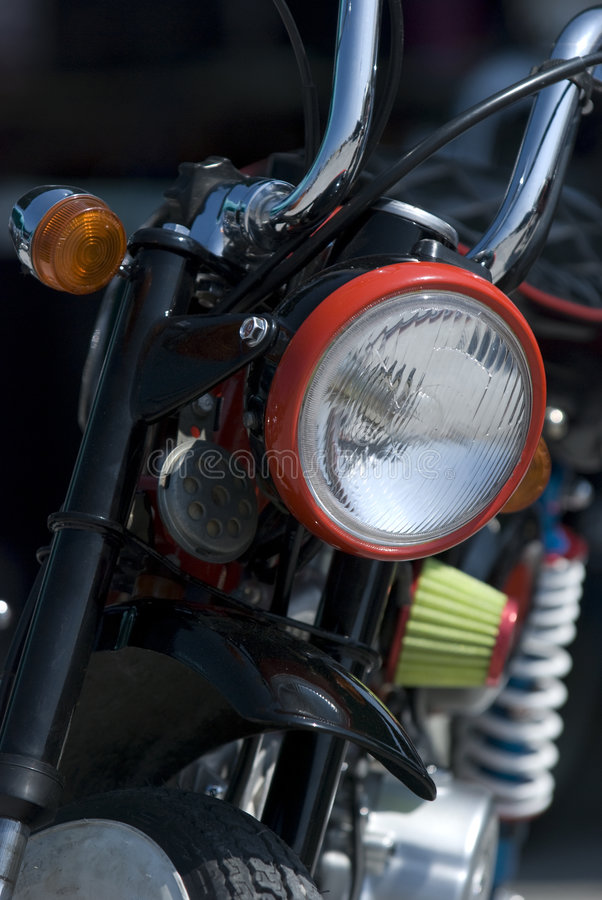 Front Detail Of Light Motorbike Stock Image