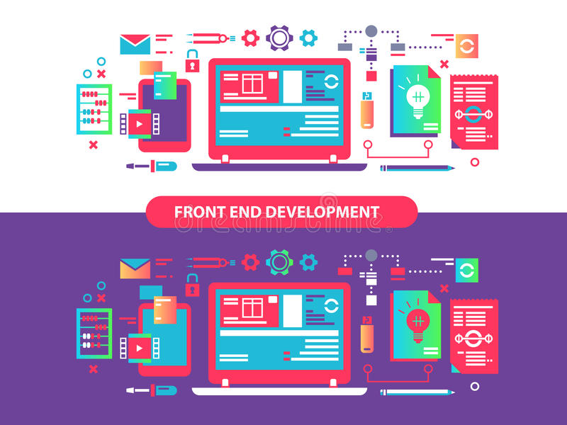 Front and development vector illustration