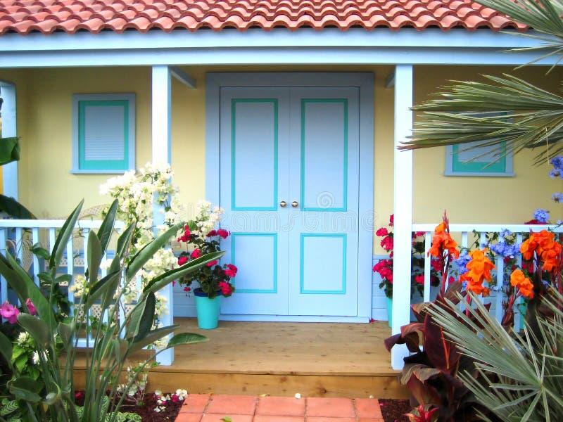 Download Front door stock photo. Image of green, plants, floor - 2071356