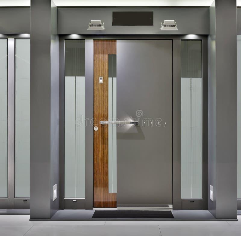 Front Door. Massive Metallic Fireproof Front Door royalty free stock photography