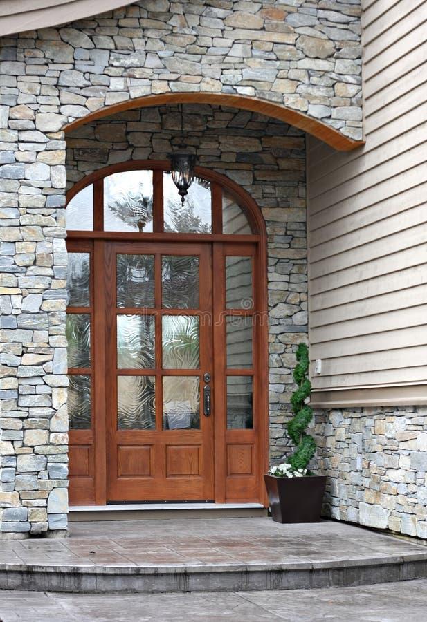 Front door stock photo