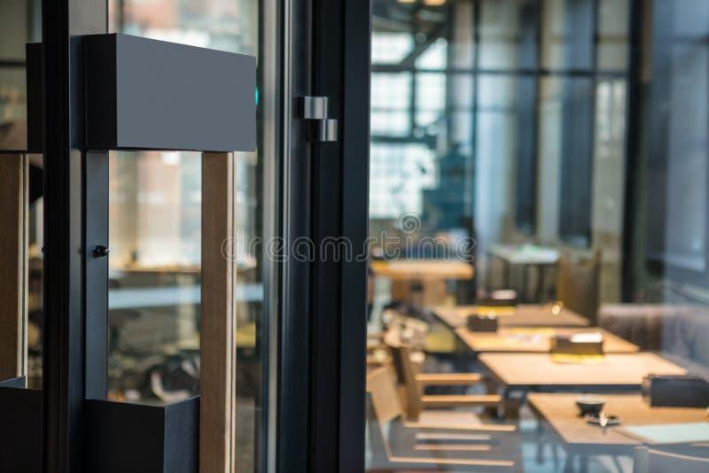 Download Restaurant Door Handle With Pull Sign On Glass Doors Stock Photo - Image of background & Restaurant Door Handle With Pull Sign On Glass Doors Stock Photo ...