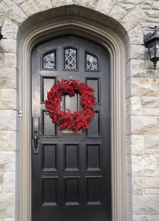 Download Front Door With Christmas Decorations Stock Photo - Image: 12310100