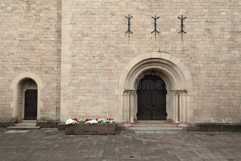 Front door of the church of St. Anna in Sulzbach, Gaggenau, Germany.  royalty free stock photo