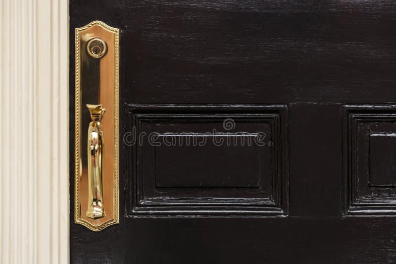 Front Door, Close Up With Door Handle Stock Image - Image of front ...