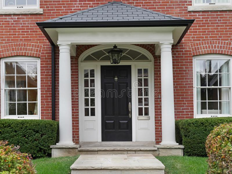 Download Front Door With Columns Stock Image. Image Of Columns   101518819
