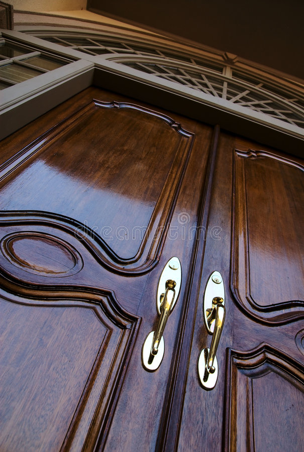 Front door entrance to home stock photography