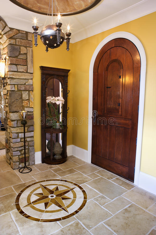 Download Front Door And Foyer Of Luxury Home Stock Photo - Image of entrance, interior: 12968648