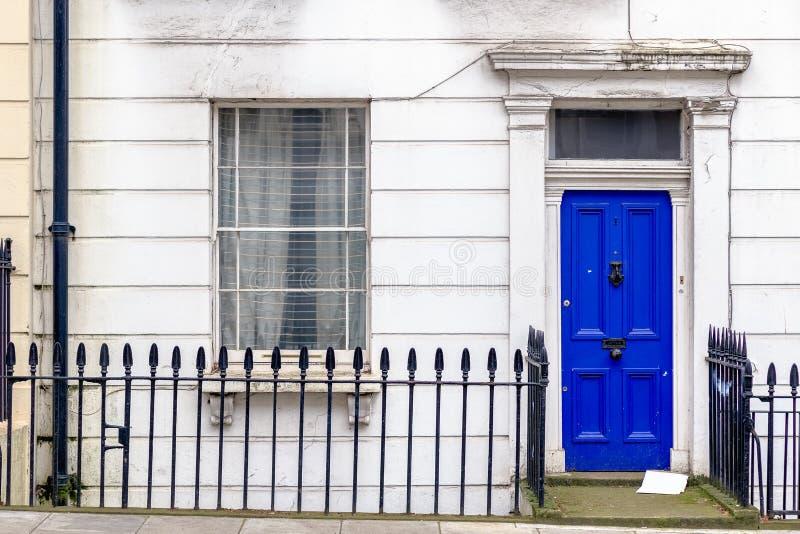 Front door of a Georgian house stock image