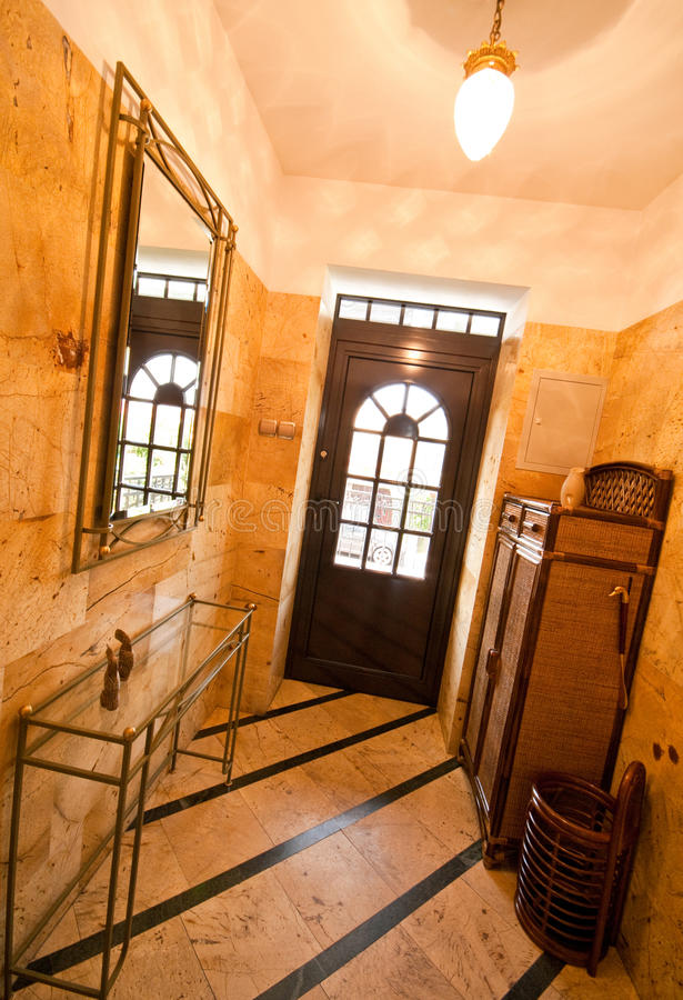 Front door and hallway royalty free stock images