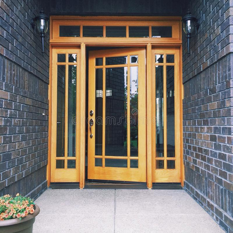 Front Door. Of a house royalty free stock image