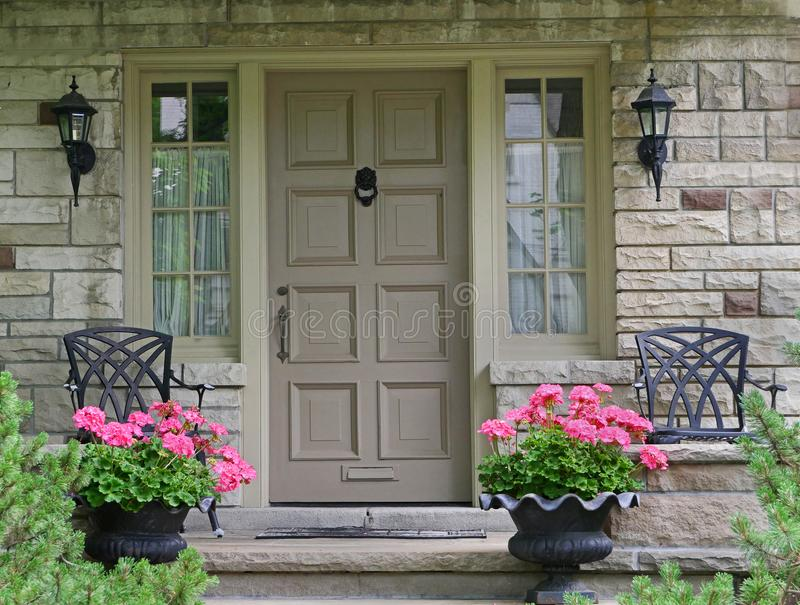 Front door of house royalty free stock photo