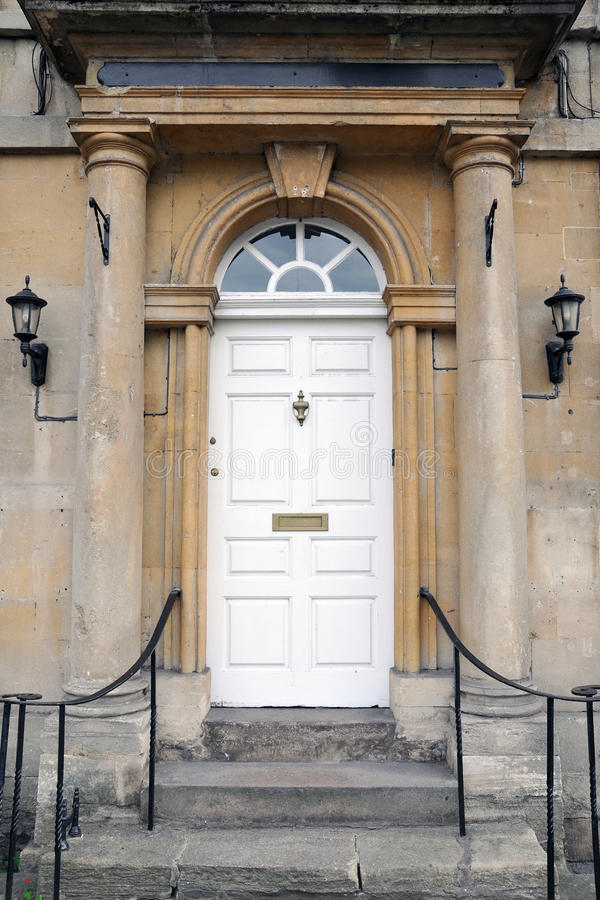 Front Door of a London Town House stock photo