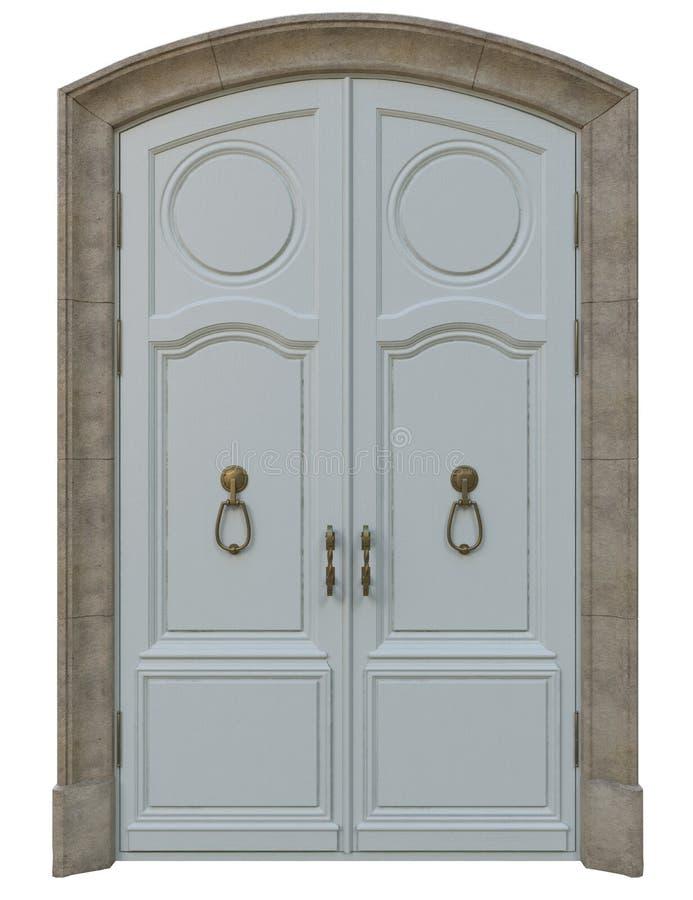 Classic entrance doors vector illustration