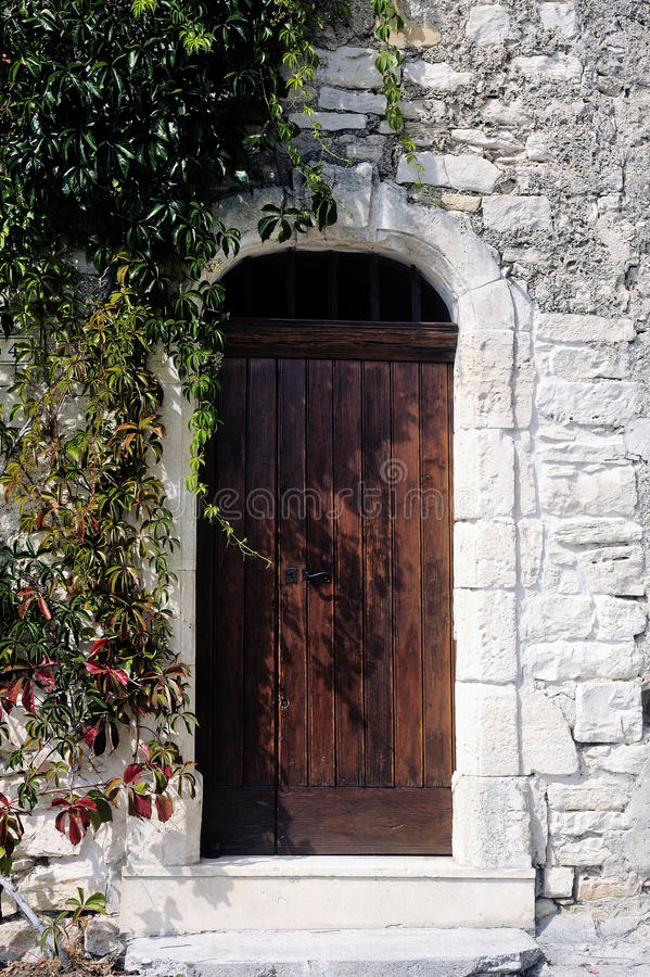 Free Front Door Of An Old Wooden House Stock Photos - 45919623