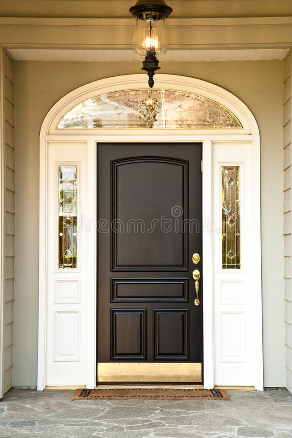 Free Front Door Of Upscale Home Royalty Free Stock Image - 12724296