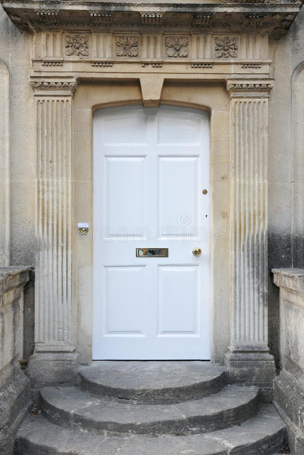 Front Door Of An Old English Town House Stock Photography