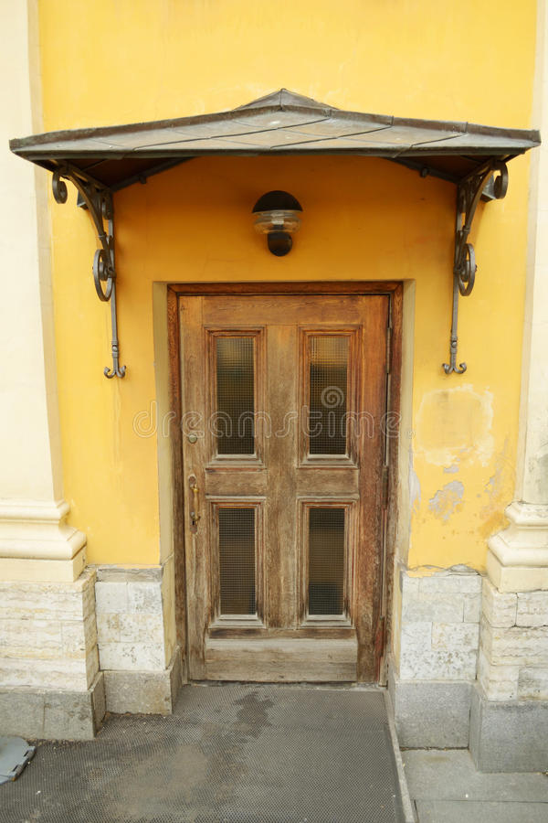 The front door to the house. And on top of iron peak royalty free stock photo