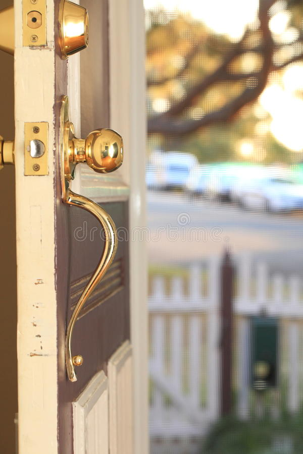 Download Front Door stock image. Image of fence, outside, estate - 33354381