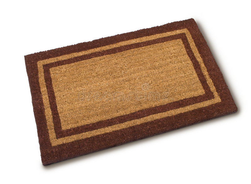 download front door welcome mat stock photo image