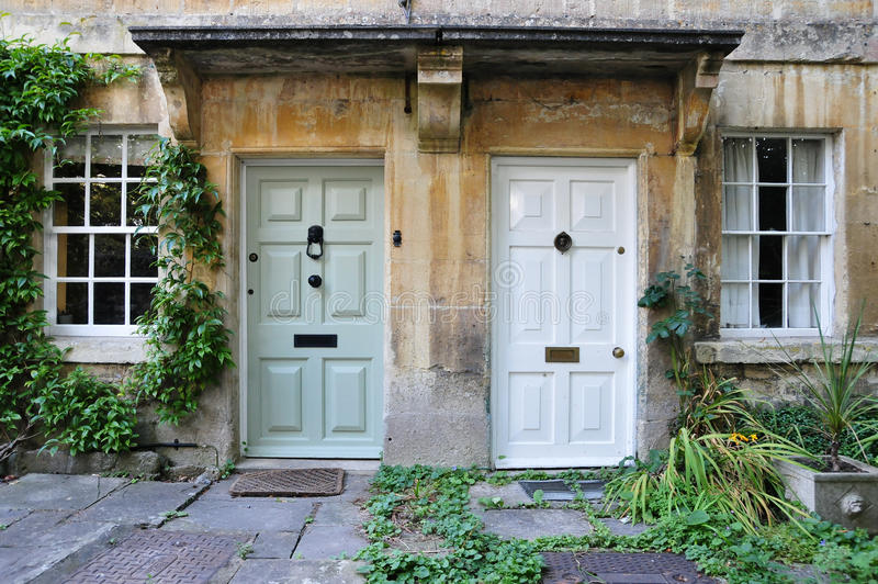 Front Doors of Attractive London Houses stock photography