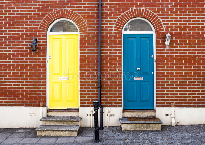 Front Doors Of Attractive London Houses Stock Image - Image of ...