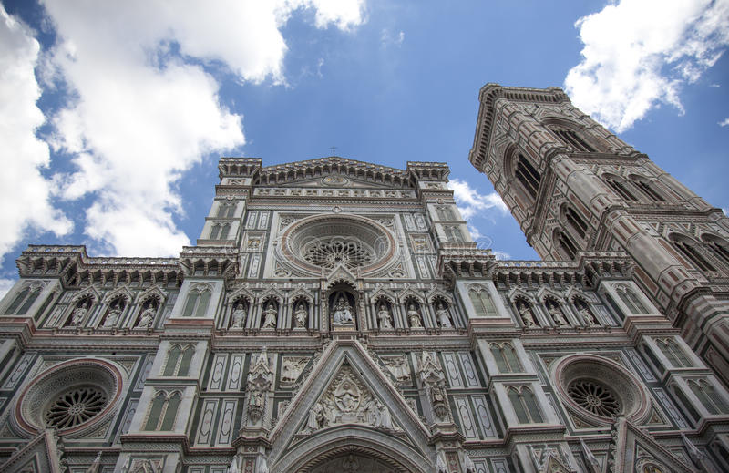 The duomo, Florence. Front of the duomo,tha cathedral of florence.in Italy royalty free stock image