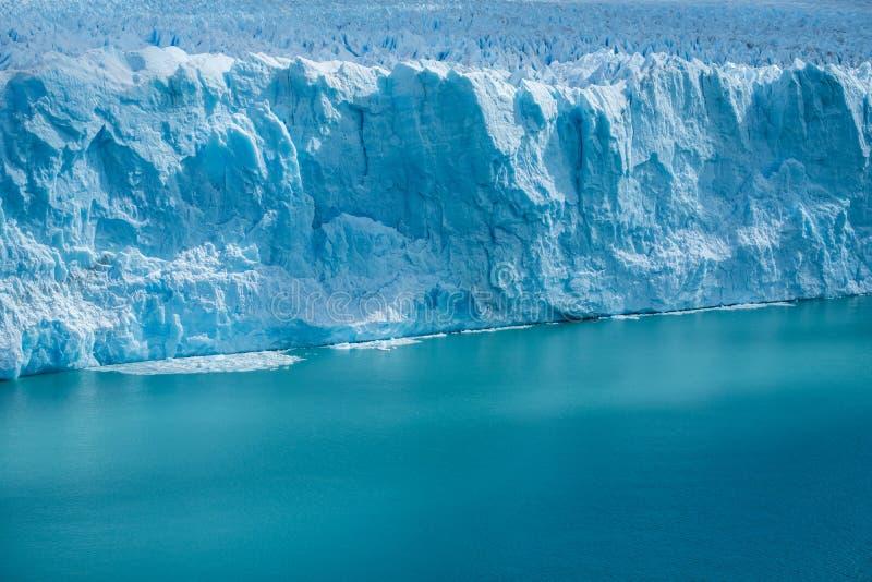 Front edge of the Perito Moreno Glacier stock images