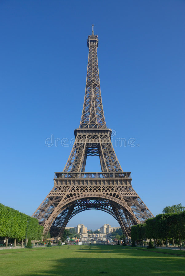 In Front Of The Eiffel Tower Stock Photography