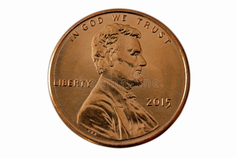 Front eines Pennys 2015 stockfotografie