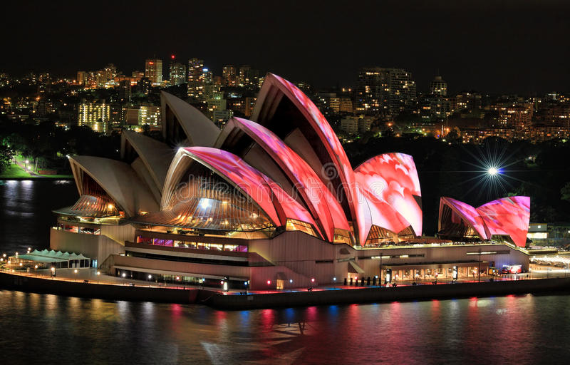 Front elevated view of Sydney Opera House stock photos