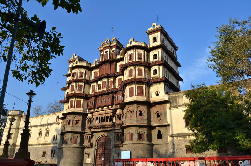 Front Elevation von Royal Palace Indore lizenzfreies stockfoto