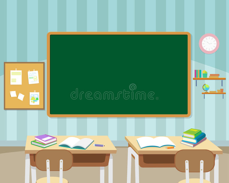 Classroom Design Literature ~ In front of empty classroom stock vector illustration
