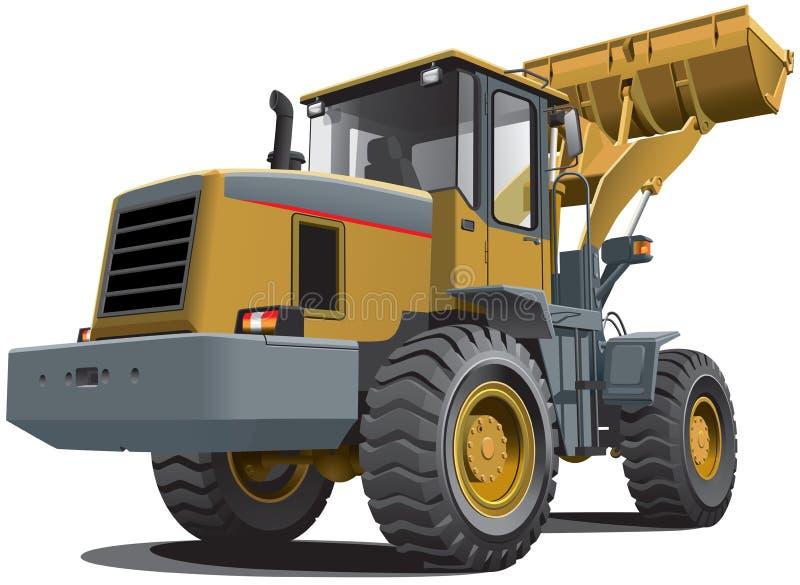 Download Front end loader stock vector. Image of scraper, dozer - 25617059