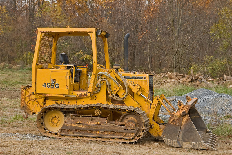 Front end loader. At construction site royalty free stock image