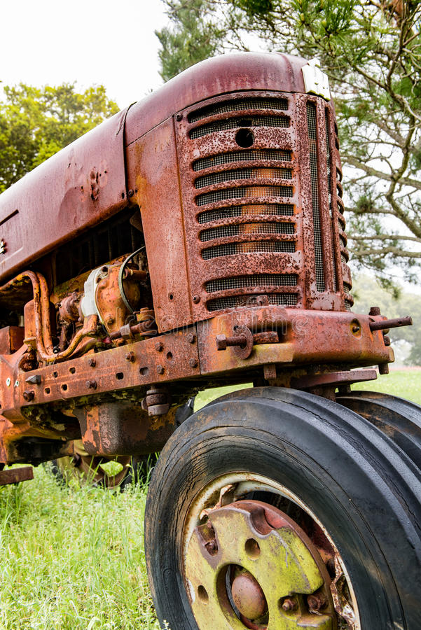 Front end of an old tractor royalty free stock image