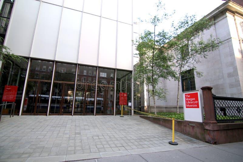 Front Entrance ao Pierpont Morgan Library e museu fotografia de stock royalty free