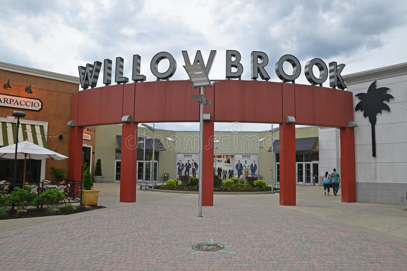 Front Entrance de mail de Willowbrook photographie stock