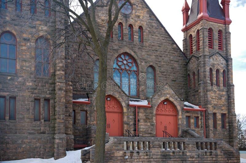 Front Entrance della chiesa del punto di riferimento a Minneapolis fotografia stock libera da diritti